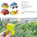 Sozzy 4 pçs/set bath crianças brinquedos piscina bebê play spray de água colorida de carro barco aquático transporte borracha plástico macio