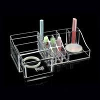 Akrilik makyaj organizatör güzellik takı kutusu plastik saklama kutusu organizador de gaveta çekmece organizatör