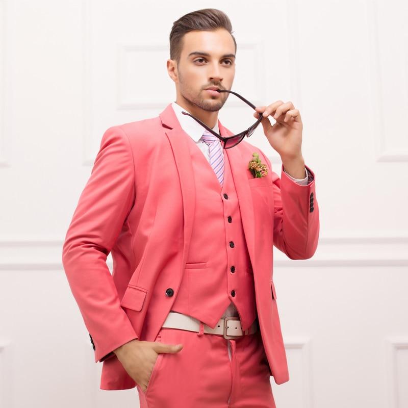 Ltalian Luxury Mens Grey Suits Jacket Pants Formal Dress Men Suit ... c443ef6b8bb2