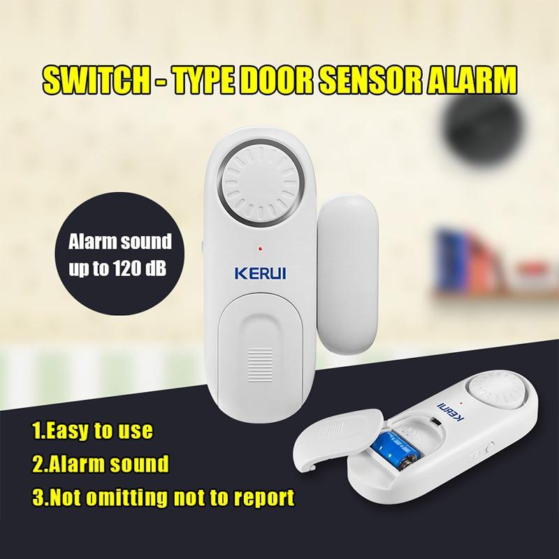 KERUI Wireless Door Sensor Magnetic Door Alarm Standalone Door/Window Sensor Alarm For Home Security Alarm System Alarme Porta