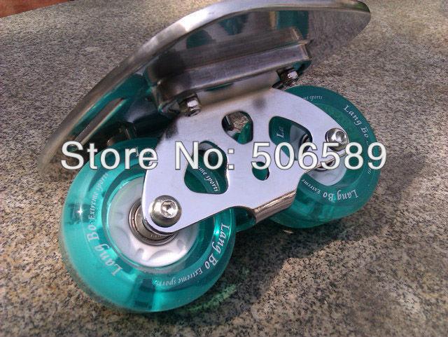 Livraison gratuite freeline patins argent planche clignotant roues langbo 6 génération outdo roulement