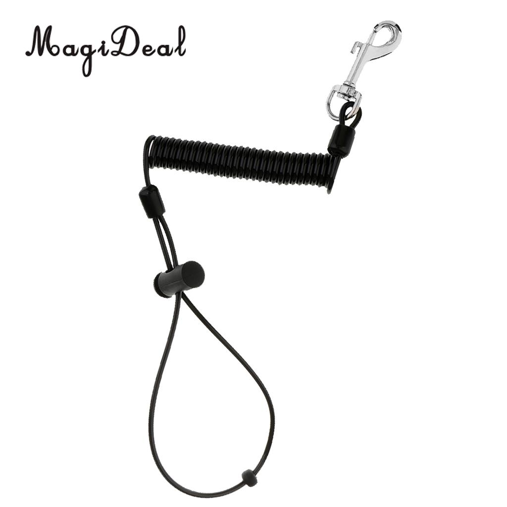 aliexpress com   buy magideal 1 1m retractable coiled fishing lanyard steel wire pier rope