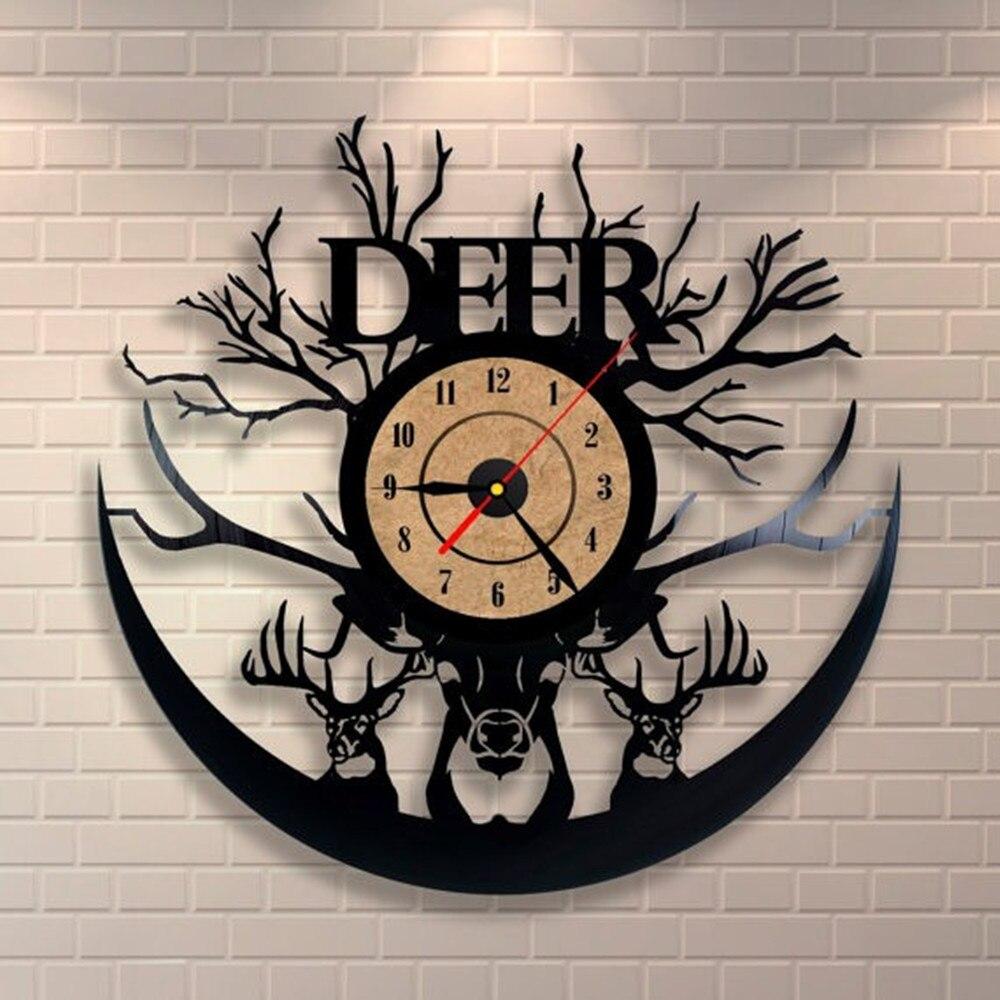 1 unidades diseño creativo disco de vinilo reloj sin Marcos CD Reloj ...