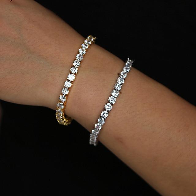 New Arrival Luxury 5mm Cz Tennis Bracelet Silver For Women Mens Wedding Hand