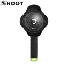 Снимать Портативный 4 дюймов Дайвинг купол порта для Xiaomi Yi 1st камера с плавающей поплавок водонепроницаемый чехол Yi купол xiaoyi Yi аксессуар