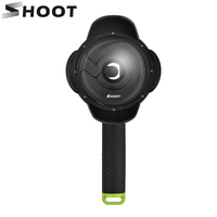 SHOOT 4 Inch Portable Diving Dome Port For Xiaomi Yi 1st Camera With Float Bobber Pole