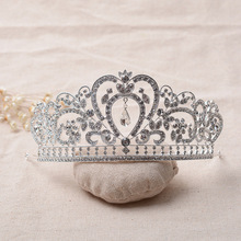 Fashion Bride Headwear Crystal Rhinestone Crown Tiara Silver Plated Golden Bridal Hair Jewelry Marry Wedding Hair Accessories