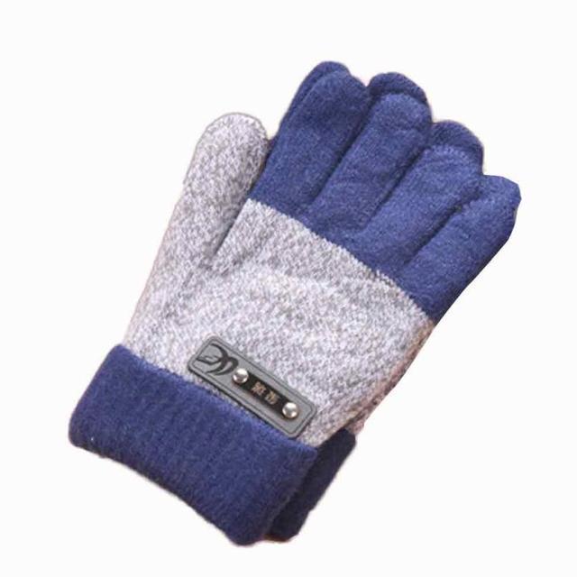 Infantil Bebés Meninas Meninos Presente Bonito Inverno Mais Quente Luvas  Engrossar Lã Luvas de Dedos Completos 0e7478dac86