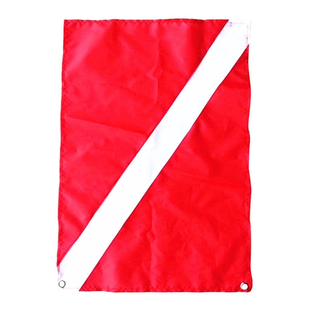Large Scuba Snorkeling Diver Down Flag Safety Signal Marker Banner Boat Flag 70 x 60 cm for Water Sports Swim Swimming Accessory