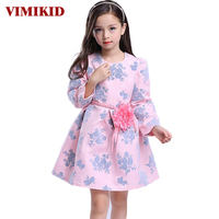 2016 Autumn New European And American Children S Clothing Girls Dress Princess Dress Children Long Sleeve