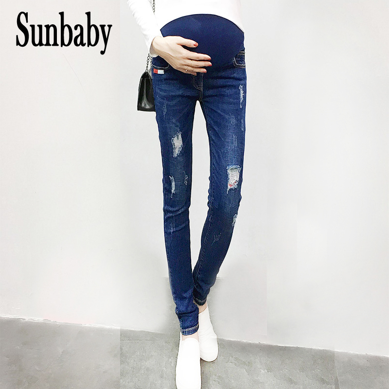 2017 Winter Fashion trousers for pregnant women functional warm thick jeans maternity pregnancy casual jeans