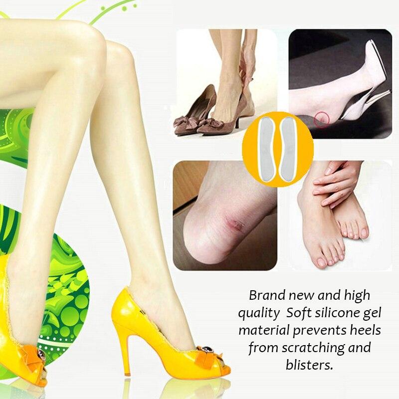 c2f0fe116 2 قطع لينة شفافة سيليكون النعال مدلك القدم عضلة الظهر كعب ملصقا هلام وسادة  الألم الاسترخاء تدليك الرعاية الصحية