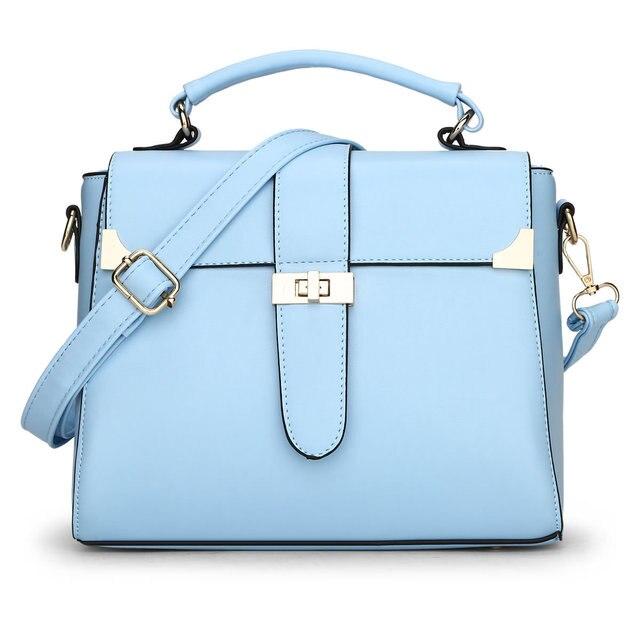 2017 New Leather Tote Bag Ladies Casual Small Crossbody Shoulder Bags Hit Color Fashion Handbags Bolsa Feminina ElUnico Handbag