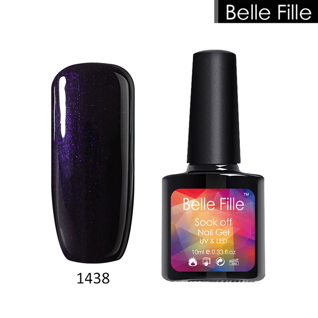 Belle Fille Natural Clear Color Salon Uv Gel Nail Polish Home Manicure Easy Remove