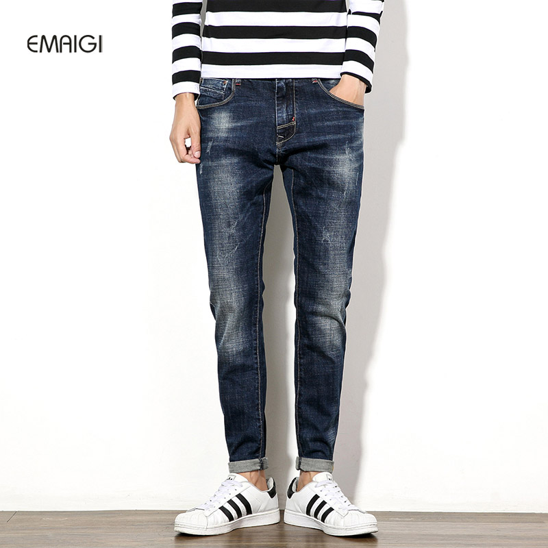 New Large Size 29-46 Mens Jeans Denim Pants High Quality Cotton Brand Men slim  Jeans Pant Male Casual Trousers large size 29 42 young men jeans hole patchwork denim harem pant male fashion casual denim pant trousers