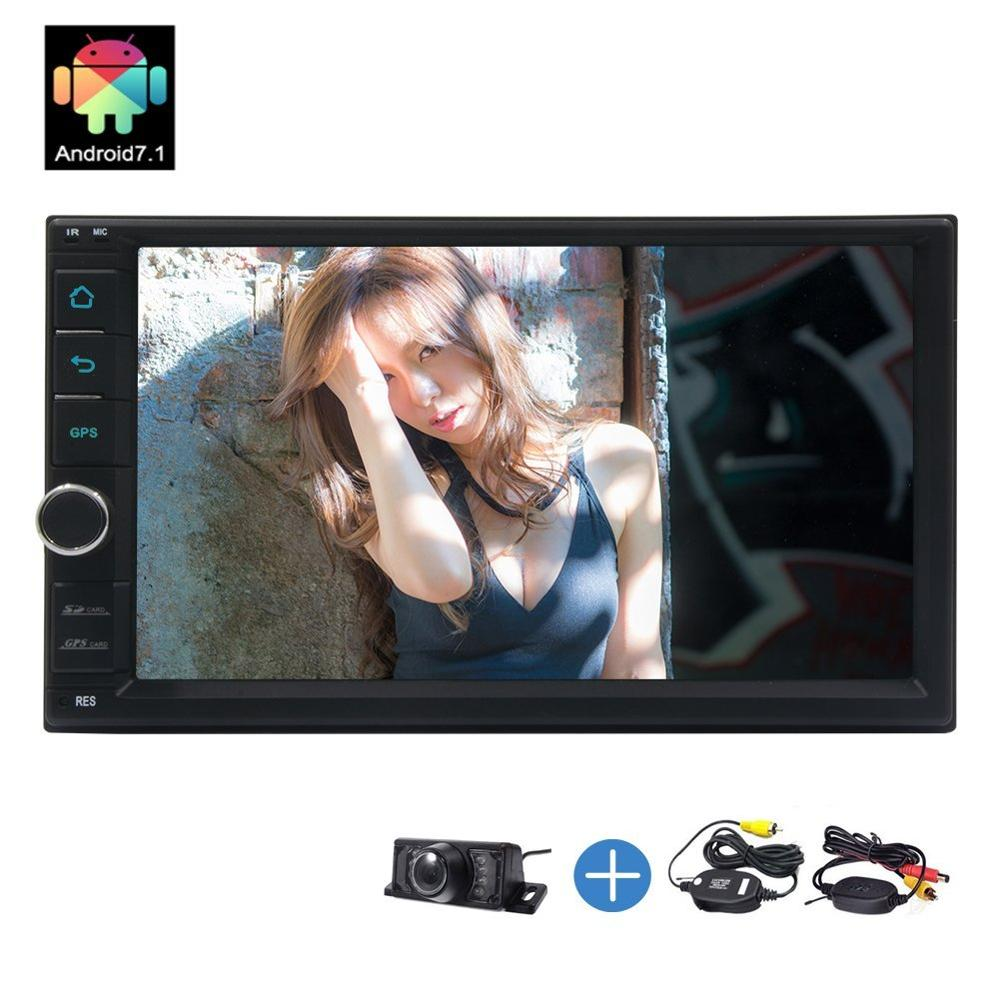 "In Dash 7/"" Double 2 Din Android 7.1 Car Radio Stereo GPS Sat Nav WiFi OBD2 DAB+"