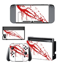 Nintendo Switch Vinyl Skins Sticker For Nintendo Switch Console and Controller Skin Set – For Red Blood