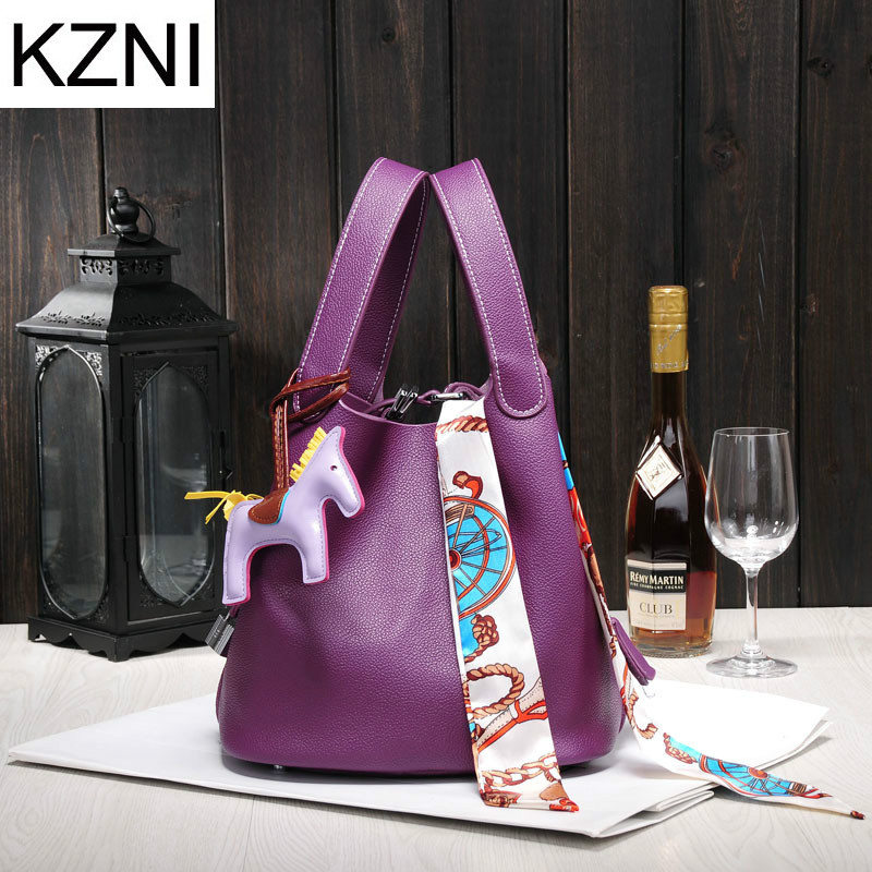все цены на KZNI woman bag handbags women famous brands good quality genuine leather bag women messenger bags  bolsas femininas L110202