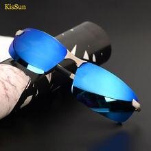 2016 New Sunglasses For Men Mirrored Polarized UV400 Eyewear Black G ray Driving Fishing Sun Glasses With KisSun Brand Logo