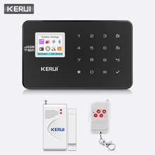 лучшая цена KERUI W18 Home Security WIFI GSM Burglar Alarm System APP Control Arm PIR CO Gas Door Sensor 720P WiFi IP Camera Alarm System