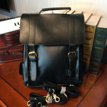 ETONWEAG Brands Cow Leather Schoolbag Backpack Women Black Vintage School Bags For Girls Casual Travel Laptop Bag Back To School
