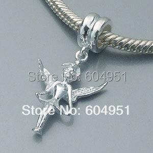 1PCS/lot 925 Sterling Silver Guardian Angel Dangle Charms for Easter Fits Pandora Style DIY Bracelets