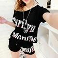 Conjuntos de Camisa de Manga Curta T das mulheres Tops E Shorts Suor ternos Pista de Treino Mulheres Verão Roupa de Duas Peças Conjuntos Esportivos terno