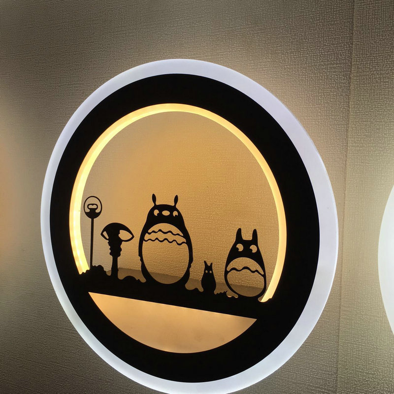 6w 12w Artpad Modern Bedroom Bedside Wall Lamp Cute Cartoon 3D Acrylic LED Night Lights  ...