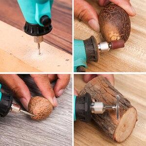 Image 2 - Tungfull elektrikli matkap Mini parlatma makinesi döner öğütücü aracı Mini matkap değişken hız döner güç aracı elektrikli gravür