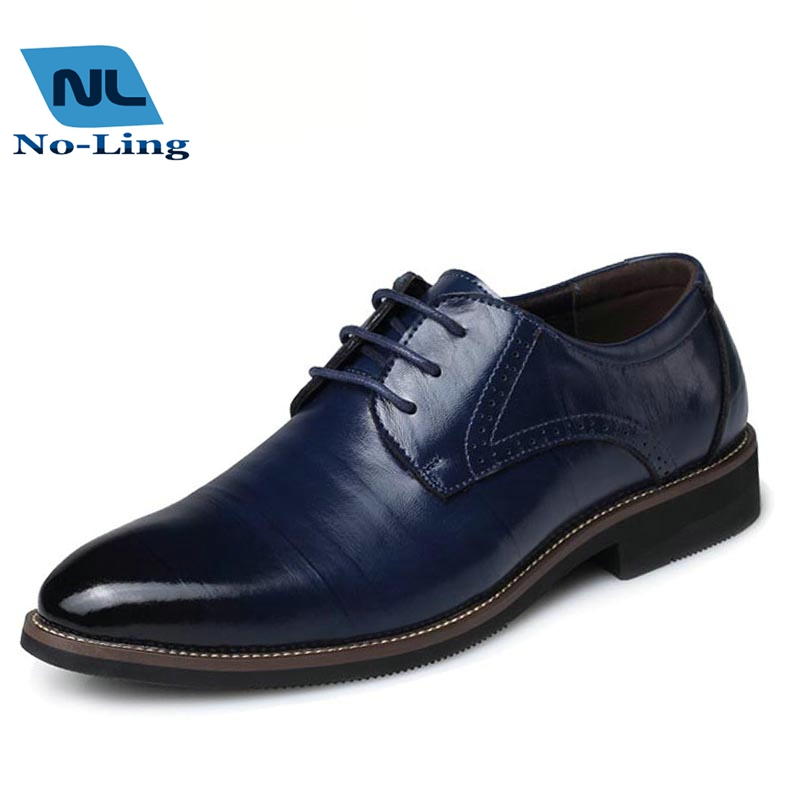 2016 mens pointed toe dress shoes wendding blue