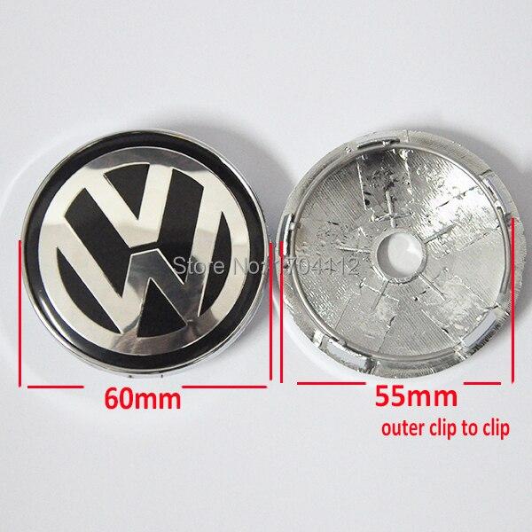 4x 60mm/55mm insert wheel Center RIM cap Hub Caps Centre Hubcap +VW Alloy Emblem sticker For ...