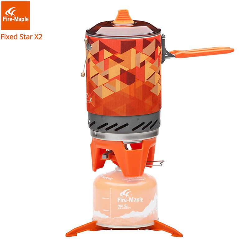 Fire Maple X2 Outdoor Gas Kompor Burner Wisata Portabel Memasak Sistem dengan Heat Exchanger Pot FMS-X2 Camping Hiking Kompor Gas