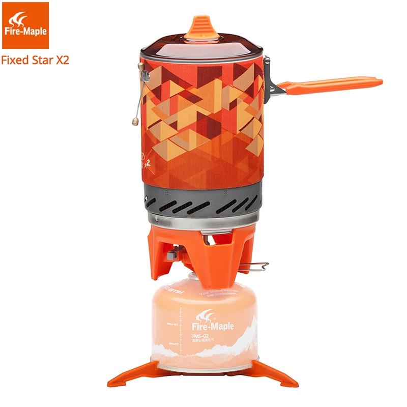 Fire Maple X2 al aire libre estufa de Gas quemadores compacta sistema de cocina con intercambiador de calor de FMS-X2 Camping senderismo mochila estufas