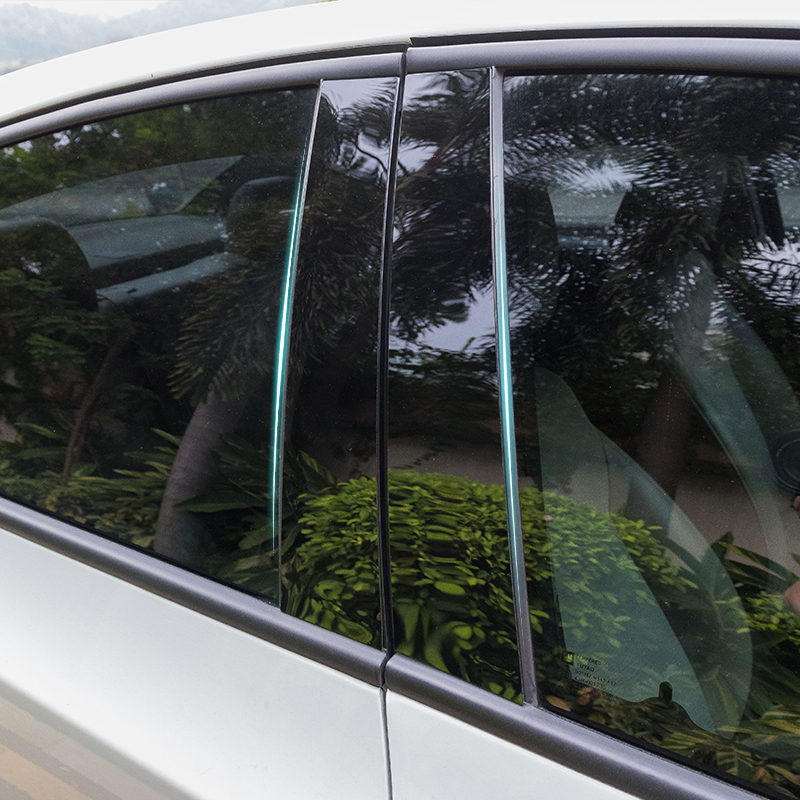 for Dongfeng Automobile AX7 580 X5 2017 Window trim Central column Decoration paste Black mirror
