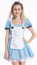 FREE SHIPPING Alice in wonderland Dorothy fancy dress costume fairy tale party outfit