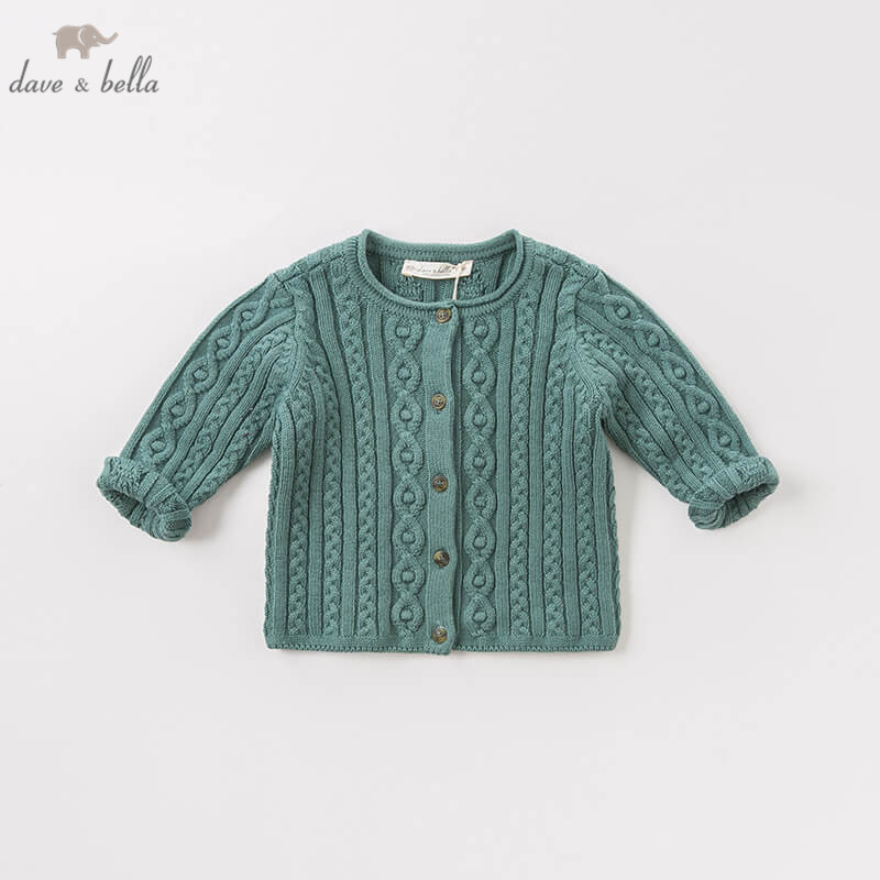 DB8711 1 dave bella autumn infant baby girls fashion 100 cotton cardigan kids toddler coat cute