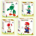 2015 New Arrive Mini Qute QCF 3D game super mario Toad diamond nano plastic model building block nanoblock kid educational toy