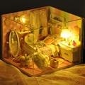 Ручной работы Кукольный Дом Мебель Миниатюрный Кукольный Домик Миниатюре Diy Кукольные Домики Деревянные Игрушки Для Детей Подарок На День Рождения Ремесло TW10