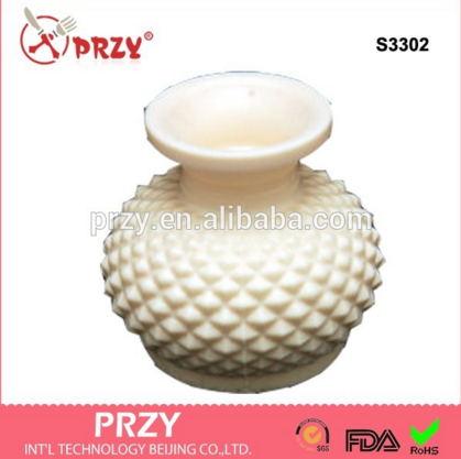 PRZY 실리카 젤 실리콘 금형 3d 꽃병 실리콘 비누 금형 수제 공예 식품 학년 실리콘 퐁당 케이크 장식