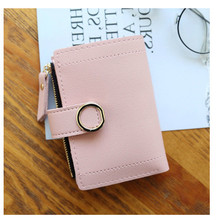 Small Short Maam Hasp Pu Lovely Hand Take Fashion Women Womens Wallets And Purses Mini bag ladies Wallet Purse