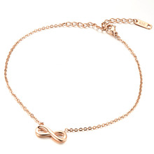 Infinity Woman Anklets Fashion Stainless Steel Women Link Chain Jewelry Bracelets Best Gift GZ021