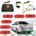 Car Original Style 6-Sensor Video Rearview Visual Parking Sensor Backup Radar System 3-Color #J-2934