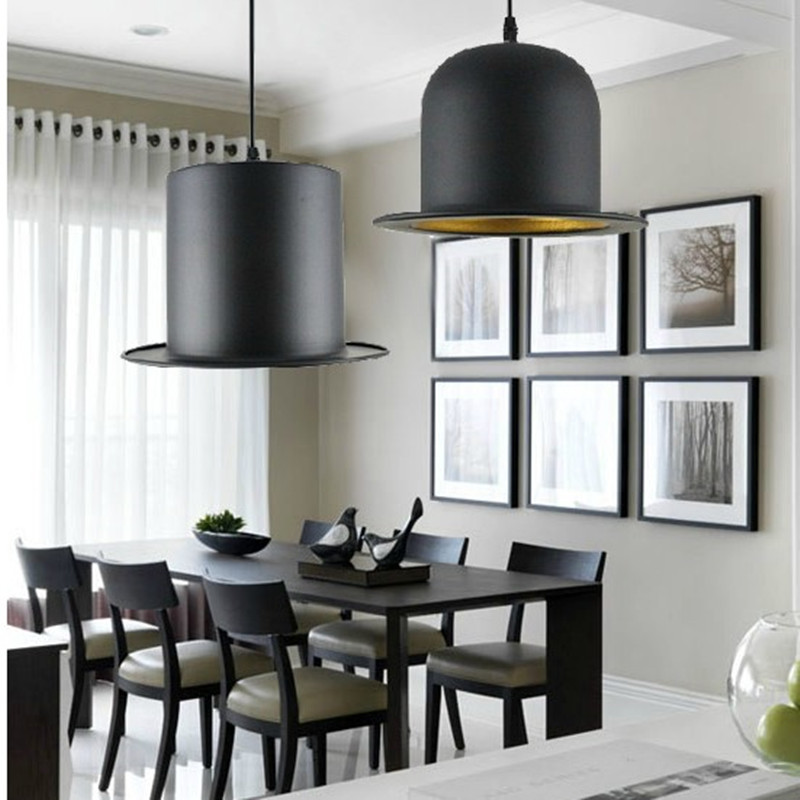 Modern chandeliers Britain Style Top Hat Pendant  Flat cap aluminum Lights LED indoor lighting ceiling lamp bar shop restaurant military hat flat cap m177