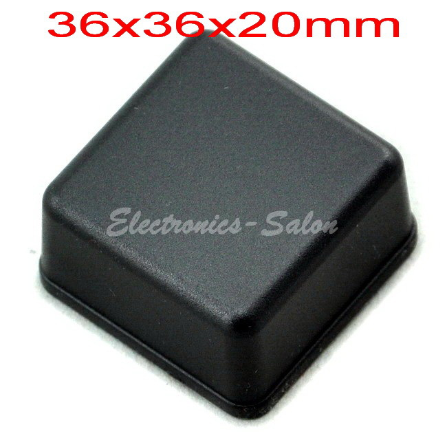 Small Desk-top Plastic Enclosure Box Case,Black, 36x36x20mm, HIGH QUALITY.