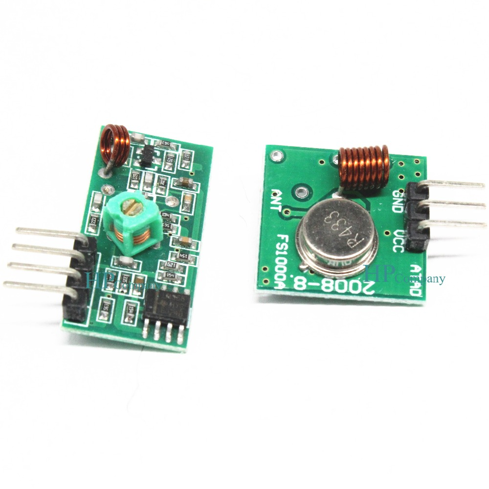 1pair 433mhz Rf Transmitter And Receiver Link Kit For Arduino Arm Circuit Mcu Dc 5v External Antenna Am Mode Vcc Voltage Module In Integrated Circuits From