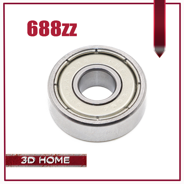Hot Sale!!! 10 Pcs 16mm x 8mm x 5mm Steel Shielded Deep Groove Ball Bearing 688ZZ Excellent Quality for 3D printer for CNC