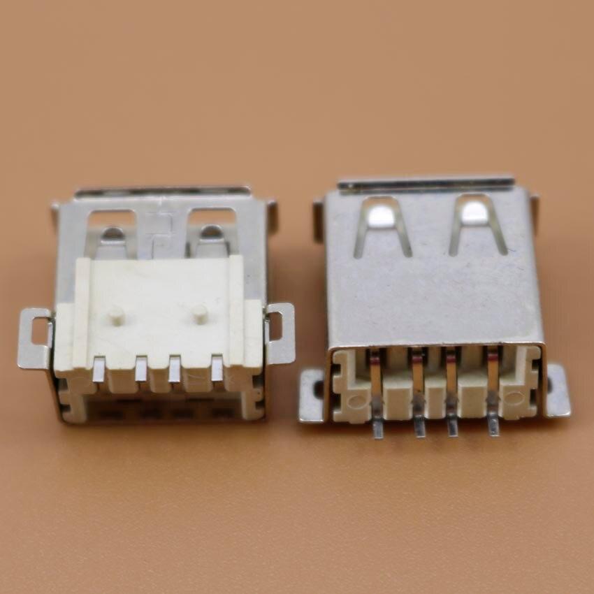 YuXi 1pcs USB 2.0 4Pin SMD female Jacks/socket for Desktop Laptop PC/phone charger etc.LCP USB jack