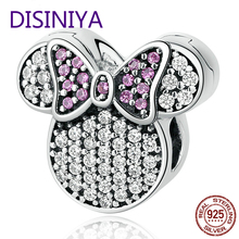 DISINIYA  New Collection Miss Mickey Charms Beads for Jewelry Making Genuine 925 Sterling Silver Free Shipping BLC052