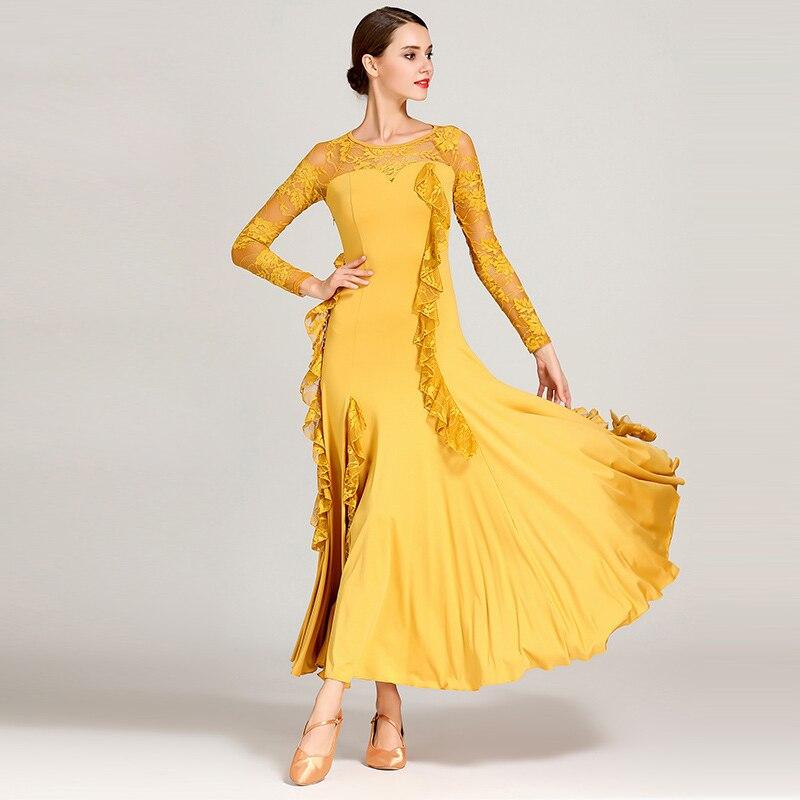 S9038 Modern Dance Costume Women Ladies Dancewear Waltzing Tango Dancing Dress Ballroom Costume Evening Party Dress