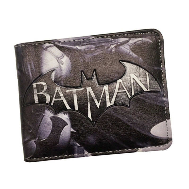 Hot Comics The Batman Wallet  Animated Cartoon Purse for Young People Students Gift Card Holder Wallets With Tag Dollar Price hot 2017 world of warcraft wallets cartoon anime purse gift for young students pu leather dollar bags casual short wallet